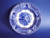 George Jones Blue and White 'Abbey' Ware Tea Plate c1910 #1